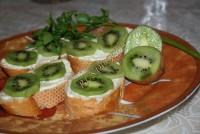 Бутерброды с киви