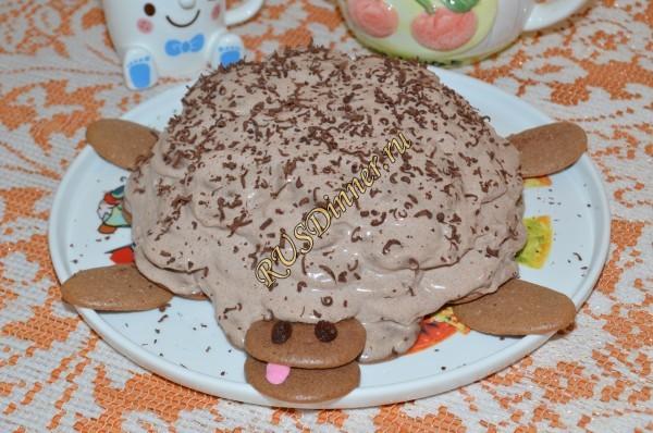 Домашний торт «Черепаха»