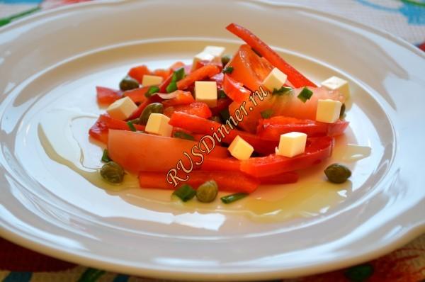 Греческий салат с каперсами