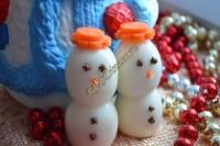 Канапе «Снеговики»