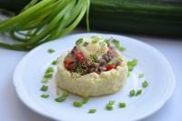 Картофельные гнезда с грибами и мясом