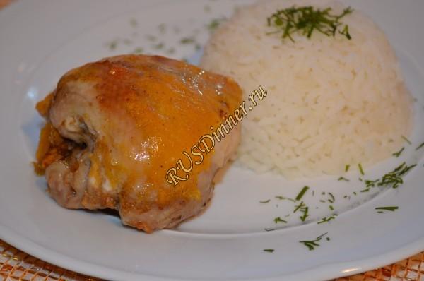 Курица, маринованная в хурме