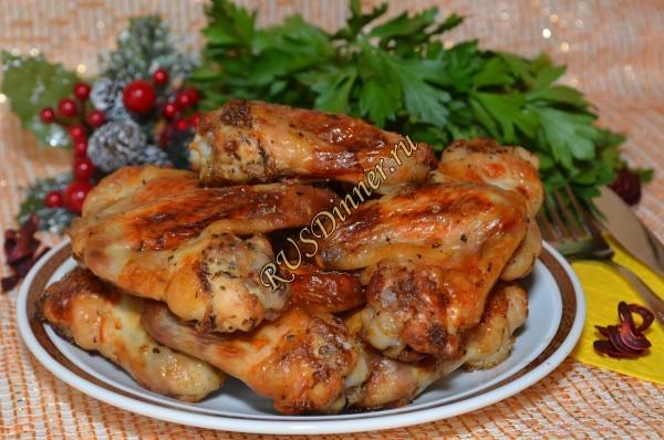 Куриные крылышки в гранатовом соусе
