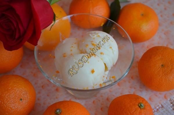 Мандариновое мороженое в домашних условиях