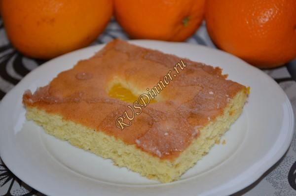 Мандариновый сладкий пирог