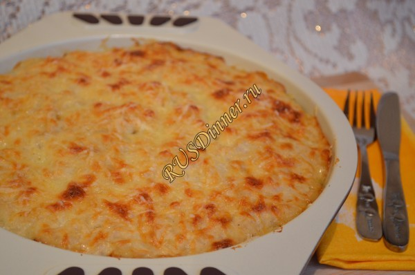 Молодой картофель с беконом и сыром
