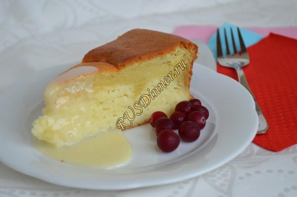 Пирог-ватрушка с творогом