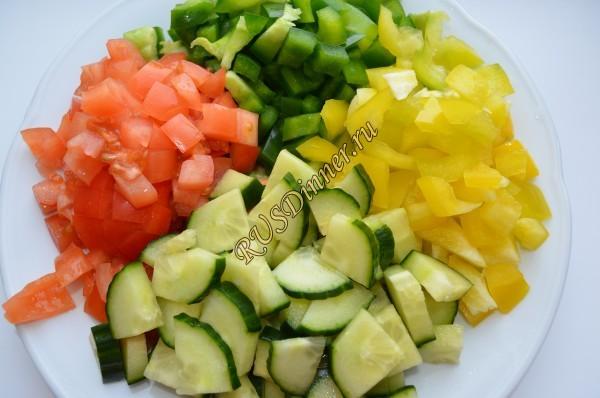 салат рецепт фото перец болгарский