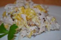 Салат с куриной грудкой и апельсином