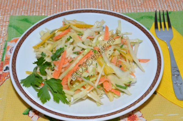 Салат «Витаминный из капусты»