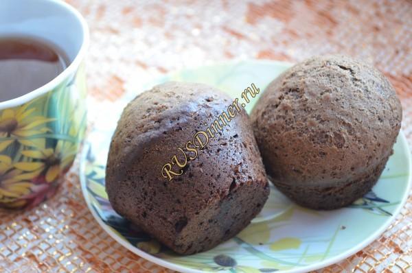 Шоколадные маффины без яиц